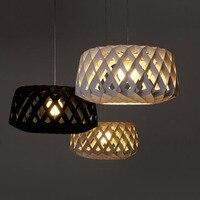 Finland Plike PC Woven Wooden Birdcage Chandelier IKEA Nordic Style Restaurant Room Lamp