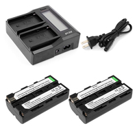 LCD faster Dual Charger with 2pcs 2.6Ah NPF 550 NP F530 NP F570 Rechargeable Battery for Sony Z1 CCD SC55 TRV81 DCR TRV210 FD81