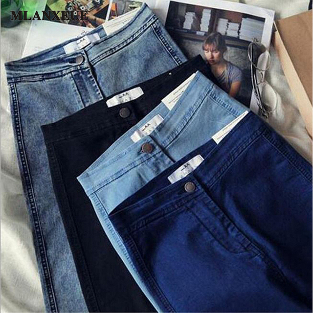 Women High Waist Denim Jeans Plus Size Casual Women Jeans Pant Slim Stretch Denim Trousers jeans Quality Denim Pants