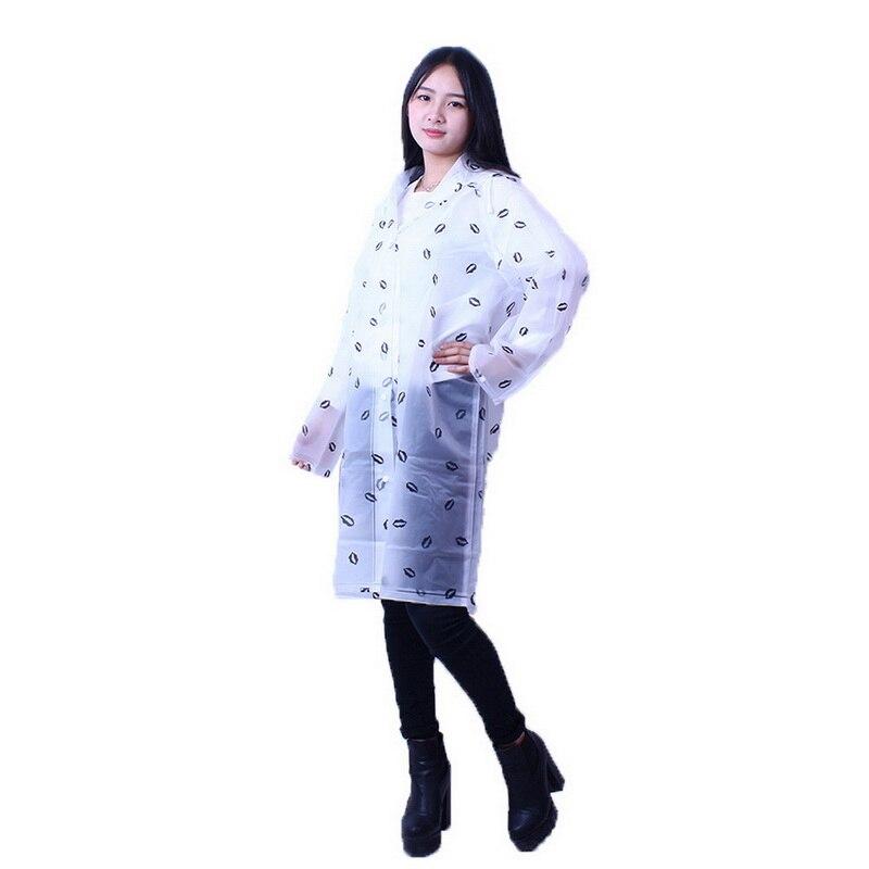 New Fashion Women Transparent Eva Girls Raincoat Travel Waterproof Rainwear Female Adult Poncho Outdoor Rain Coat Hot