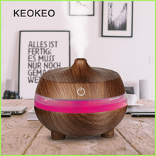 KEOKEO 300ML Air Humidifier USB Aroma Essential Oil Diffuser Aromatherapy Purifier 7 Color Change LED Light For Home