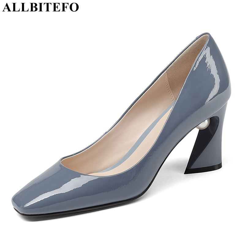 ALLBITEFO large sizr:33-43 genuine leather sexy high heels women shoes high quality women high heel shoes office ladies shoesALLBITEFO large sizr:33-43 genuine leather sexy high heels women shoes high quality women high heel shoes office ladies shoes