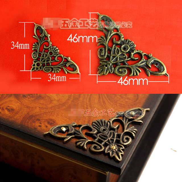 Aliexpress.com : Buy 50pcs hardware corner jewelry wooden box ...