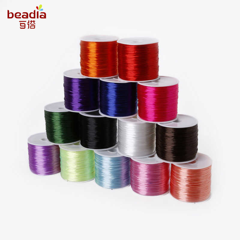 New Arrival! Dia 0.7mm 50m/Roll Stretch Elastic Beading Cord Wire String For Gift Wrapping Decorate Party Wedding Place