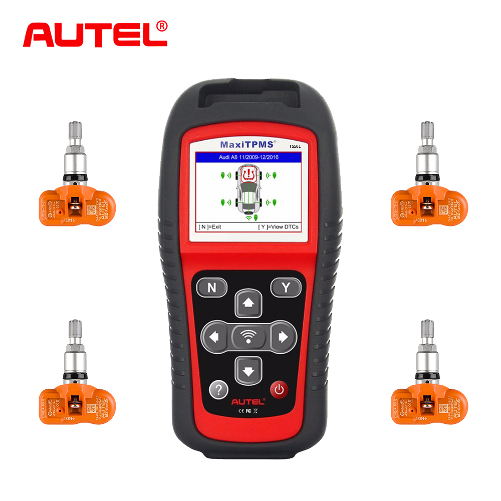 Autel maxitpms ts501 tpms serviço ferramenta sistemas tpms sistema de monitoramento da pressão dos pneus com 315 mhz sensores programáveis pk ts601