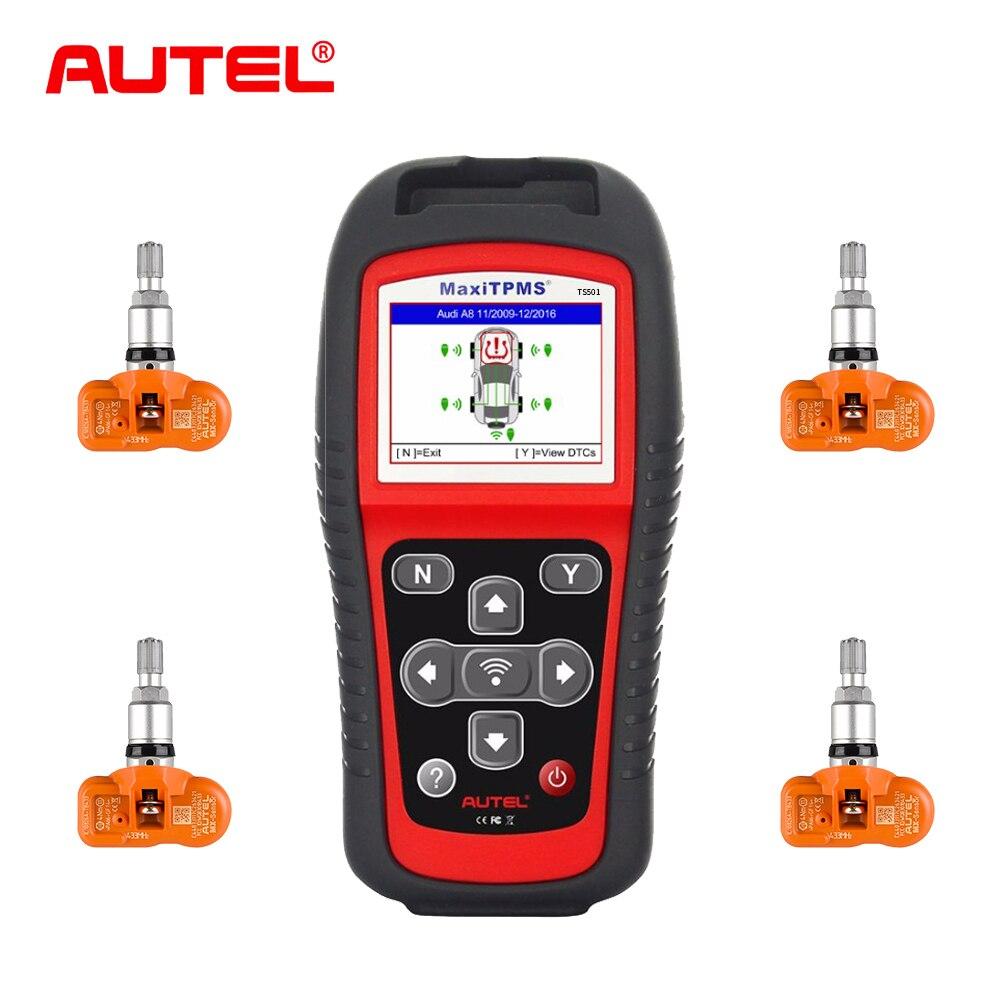 Ferramenta de Serviço MaxiTPMS Autel TPMS TS501 sistemas TPMS sistema de monitoramento de pressão dos pneus com 315 MHz Sensores Programáveis