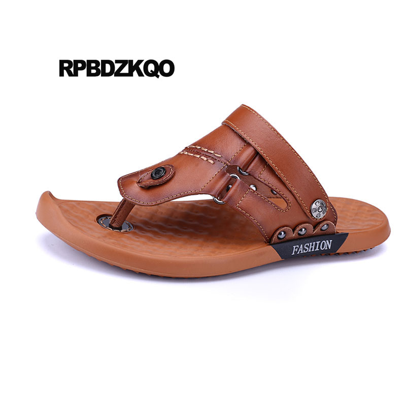 Men/'s Summer Flip Flop Shoes Outdoor Pool Slippers Slip On Breathable Thong Soft