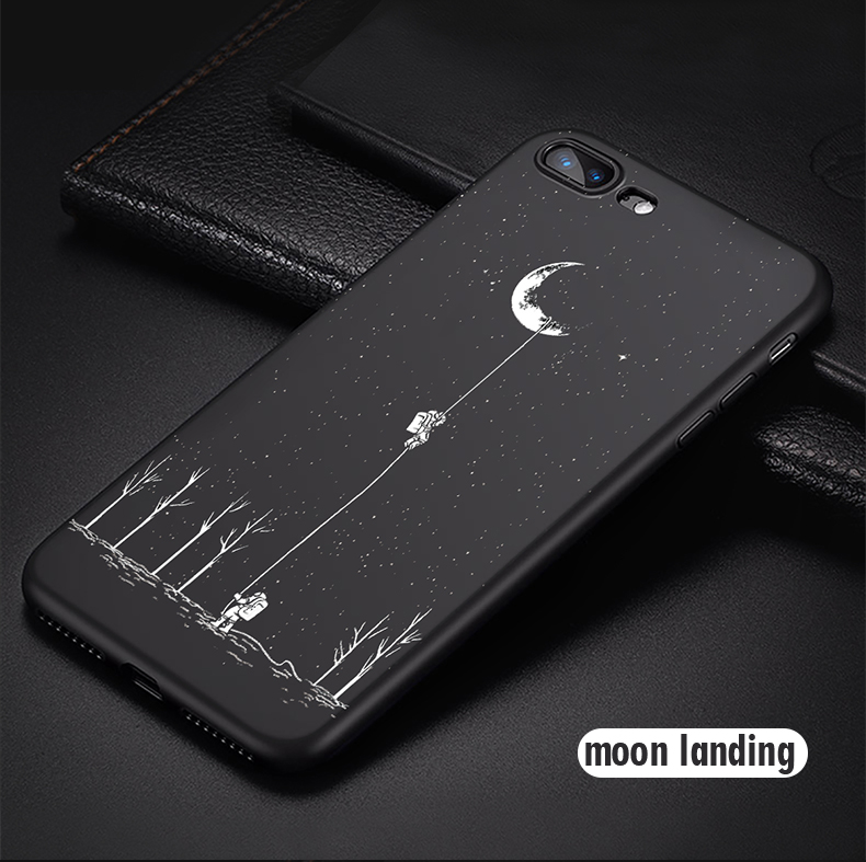 Phone - Newest Space Moon Astronaut Phone Cases For iphone 7 8 X Case
