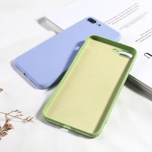 Image 3 - Funda de teléfono Color caramelo para iPhone 8 Plus funda de silicona líquida de lujo para iPhone 6 6 s Plus 7 8 X XS X XR XS Max suave TPU Capa