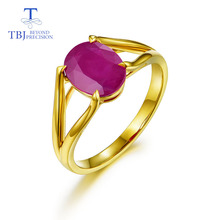 TBJ,14K yellow gold rings 100% natural gemstone ruby 1.15ct simple Luxury fashion joker fine jewelry for woman anniversary gifts tbj natural ruby gemstone simple
