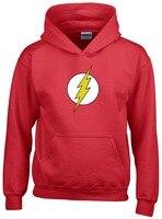 Hot Sale Unisex The Flash Hoodie Anime Justice League Hoodies Red Jacket Sweatshirts Coat Top Men