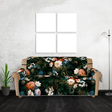 Turtle Black cloth flower pattern Sofa cushion Anti-Slip Quilted Sofa Couch Cover Chair Pet Dog Kids Mat Furniture Protector цена 2017