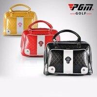 PGM PU Golf Çanta Giyim Su Geçirmez Çanta Deri Yüksek Kapasiteli dayanıklı Marka Golf Çantası Ayakkabı Seyahat Için Çift El günlük paket