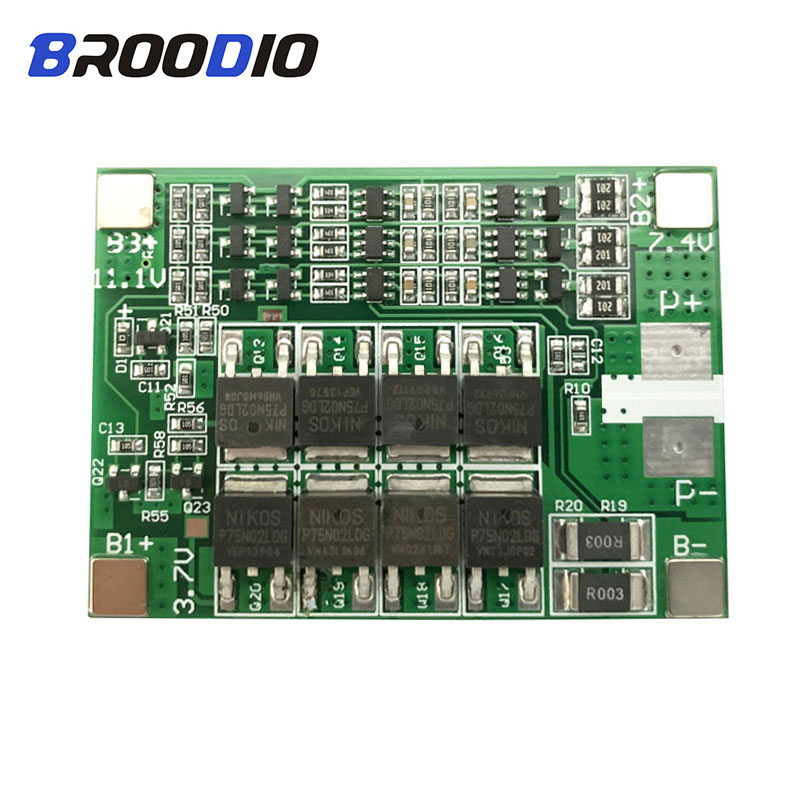 BMS 3S 40A 11.1V 12V 18650 Lithium Battery Protection Board With Balance For 18650 Battery Accessories Balancer Plate Equalizer