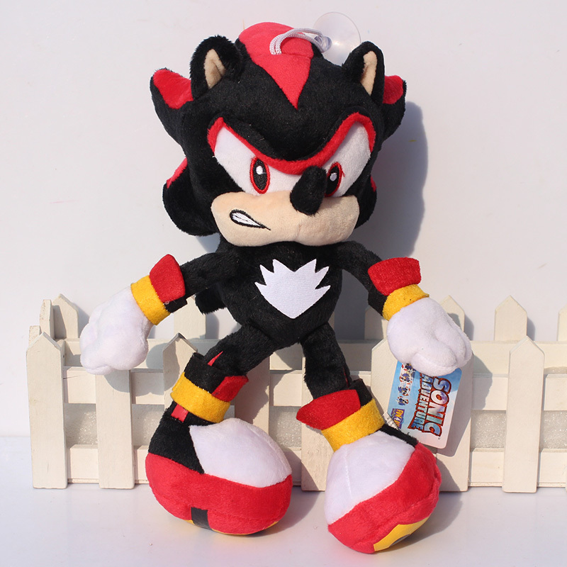 25 33cm Black Shadow the Hedgehog Plush Toys Sonic The Hedgehog Plush Doll Soft Stuffed Plush