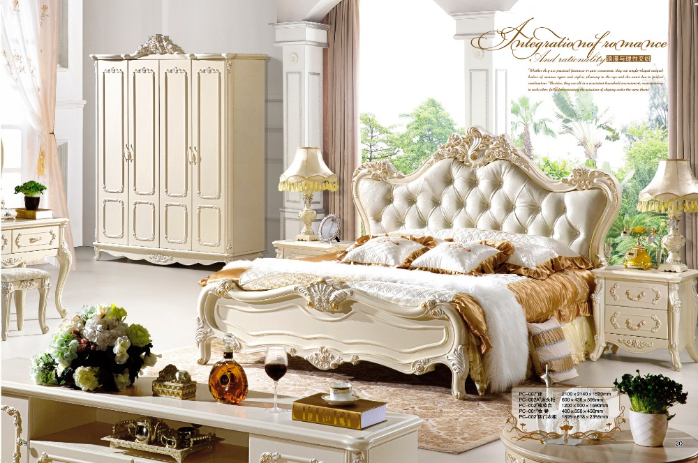 Simple Bedroom Furniture high quality leather beds-buy cheap leather beds lots from high
