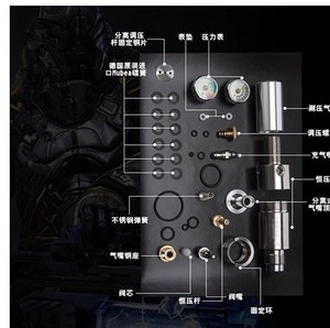 Image 4 - Single hole Airforce condor pcp High pressure cylinder valve and high pressure Valve explosion proof of constant pressure valve