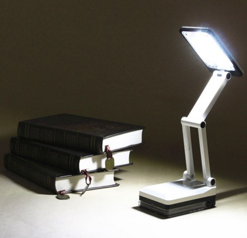 Bright Portable Folding 17 LED Reading Light Rechargeable Table Study Desk Lamp Emergency Lamp Book Lamp