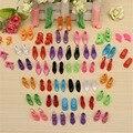Оптовые 40 Pairs 80 шт. Кукла Обувь Мода Cute Красочные Ассорти обувь для Куклы Барби с Разными стилями Детские Игрушки