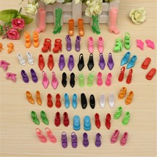 Wholesale 40 Pairs 80pcs Doll Shoes Fashion Cute Colorful Assorted shoes for Barbie Doll with Different styles Baby Toy