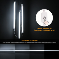 Led Under Cabinet Light Sensor Lamp 24/42 LEDs 30/50cm Lighting For Wardrobe Cupboard Closet Kitchen Night Light