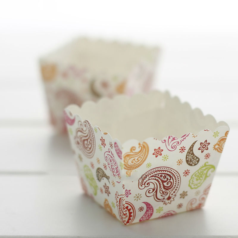 Square cake cup 50pcs Liners Baking Cup Muffin Kitchen ...