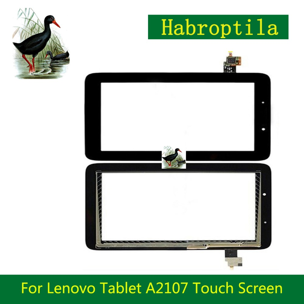 High Quality 7 For Lenovo Tablet A2107 Touch Screen Sensor With Digitizer Panel Front Glass Lens Free Shipping