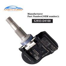 Автомобильный TPMS датчик давления в шинах для hyundai Kia NIRO Optima Sportage Sorento OEM 52933-D4100 52933D4100 433 МГц
