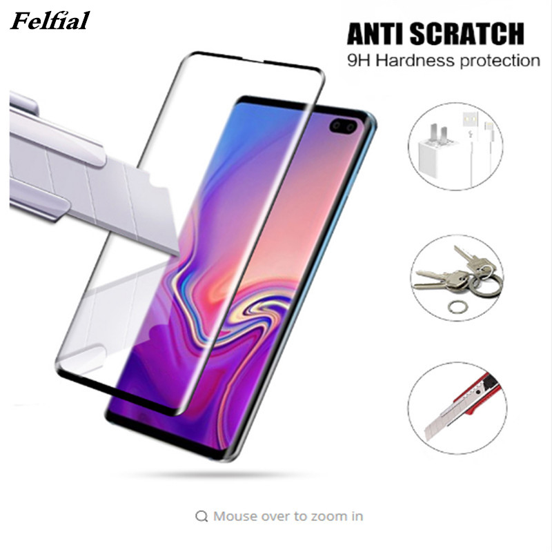 3D Glass on the for Samsung galaxy s10 case cover protective glass s10 e plus tempered