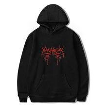 2018 Lil xan Xanarchy Hoodiesและเสื้อฤดูใบไม้ผลิฤดูใบไม้ร่วงฮิปฮอปบุรุษHoody Hoodiesเสื้อสวมหัวฮาราจูกุแฟชั่นstreetwear
