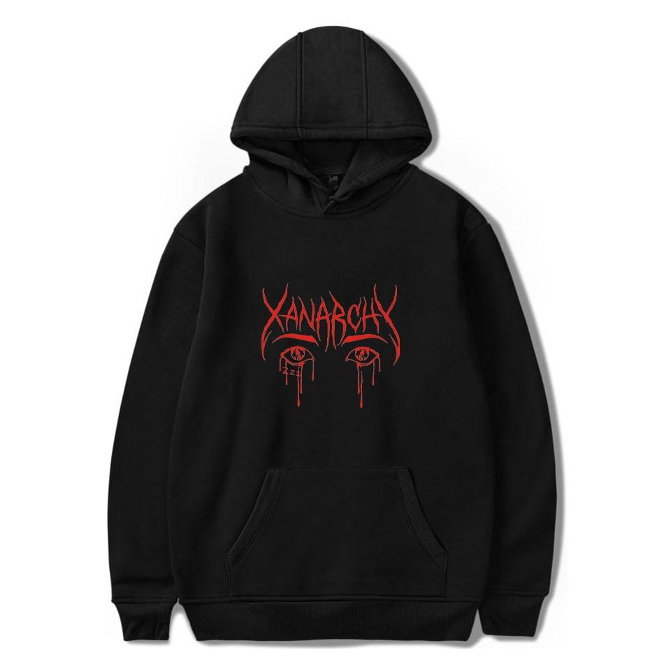 Lil Xan Xanarchy Hoodies And Sweatshirts Spring  Autumn Hip Hop Mens Hoody Hoodies Pullover Harajuku Fashion Streetwear