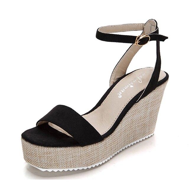 95a3a9846b3 New Women Sandals High Heels 2016 Platform Sandals For Girls Gladiator  Sandals Women Wedges Platform Sandals Kids Big Size 34-41