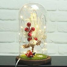 Usb мигающий свет искусственная свежая Мини Рождественская елка