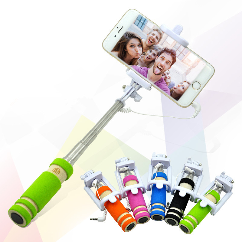 mini phone camera selfie stick monopod monopod for iphone 5 5s 6 6 6s 7 plus for. Black Bedroom Furniture Sets. Home Design Ideas