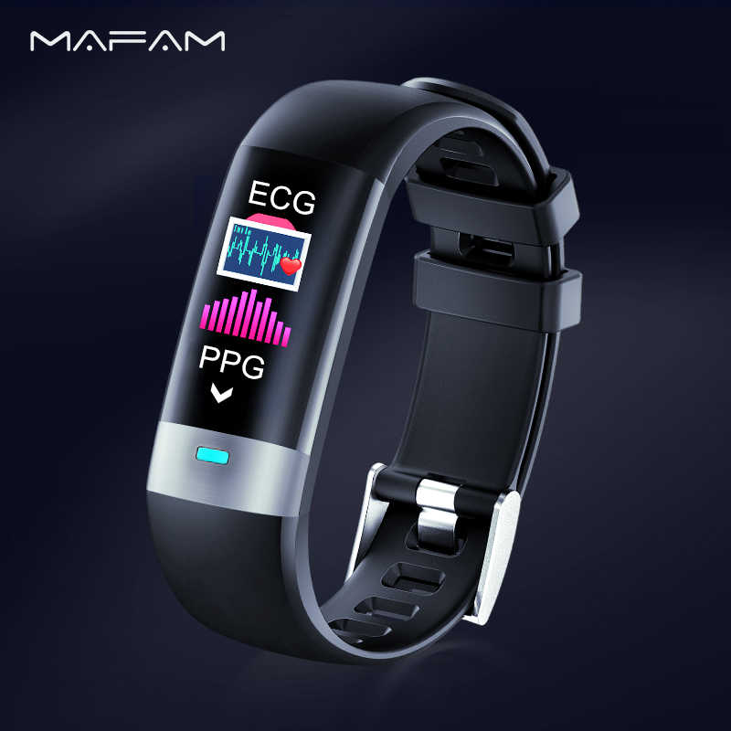 MAFAM ECG Smart Watch Clock PPG Heart Rate Monitor Blood Pressure Steps Fitness Tracker Smartwatch Sport Band for ios android