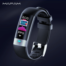 MAFAM ECG Smart Watch Clock PPG Heart Rate Monitor Blood Pressure Steps Fitness Tracker Smartwatch Sport Band for ios android smart band ecg ppg monitor blood pressure watch sports fitness tracker heart rate wristband for ios android pedometer bracelets