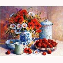 YIKEE Mosaico Diamante Redondo Strass Flores 5d diy Diamante Bordado de Strass Mosaico Pintura Home Decor h1280
