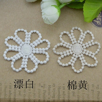 LP - 108 cotton white and beige water soluble lace fabric, garment accessories, textiles patch, 57 mm 50 pieces/lot