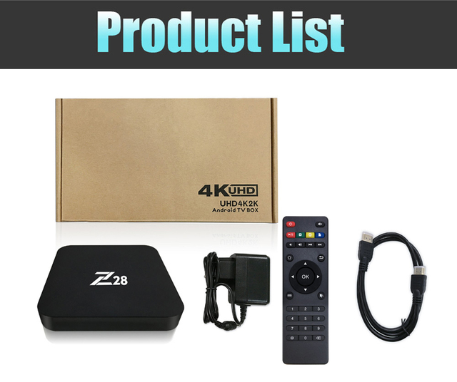 Z28 Android 7.1 TV box 1G 2G RAM 8G 16G ROM RK3328 Quad core 2.4GHz WiFi H.265 HDMI Smart Set Top Box Media Player PK X96 A95X 5