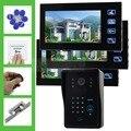 DIYSECUR Strike Lock 7 Inch Monitor Video Door Phone Intercom System Remote Control Password RFID Weatherproof Camera