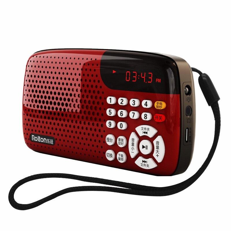 Radio Unterhaltungselektronik SchöN Rolton W105 Uv Version Der Karte Lautsprecher Led-anzeige Mini Stereo Ton Usb & Tf Radio Alten Morgen übung Singen Maschine Auswahlmaterialien