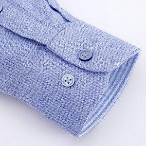 Image 5 - Flannel Shirt Men Long Sleeve Shirt 100% Cotton Plaid Dress Mens Shirts Casual Slim Fit Blouse Tops Plus Size 4XL Camisas Hombre