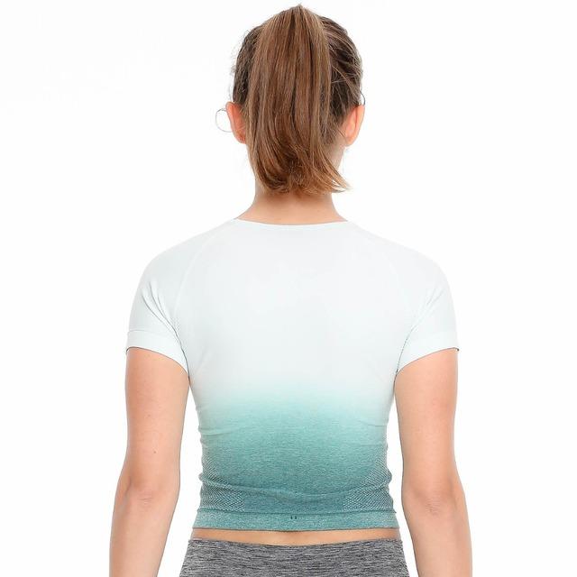 Crop Top Seamless Short Sleeve Yoga T Shirt