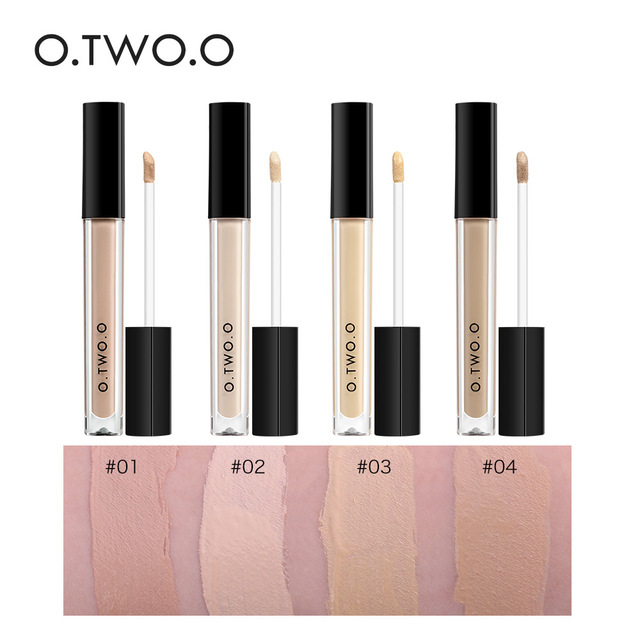 O.TWO.O Makeup Concealer Liquid Convenient Full Coverage Eye Dark Circles Blemish 4 Colors New Dark Skin Face Contour Cosmetics 1