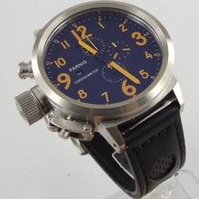 2017 Newest Hot top brand Luxury Parnis 50mm black dial date adjust luminous markers chronograph quartz movement Men's Watch