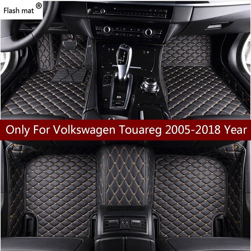 Флеш-Коврик Кожаные Автомобильные коврики для Volkswagen vw Touareg 2009-10-11-12-13-14-15-16-17 на заказ подкладка под ножки Автомобильный Ковер Крышка