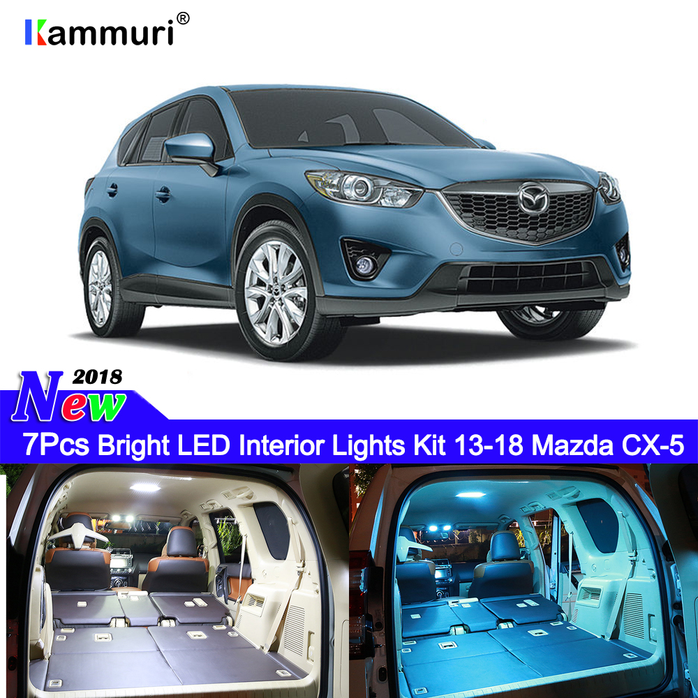 2013 Mazda Cx 5 Grand Touring For Sale: KAMMURI 7Pcs No Error White LED Car Interior Light Package