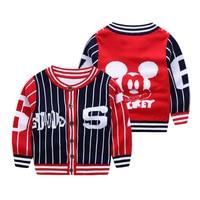 Minnie Cute Baby Boys Girls Sweater Coat Children Cotton Sweater Winter Kids Baby Jacket Knitted Sweater