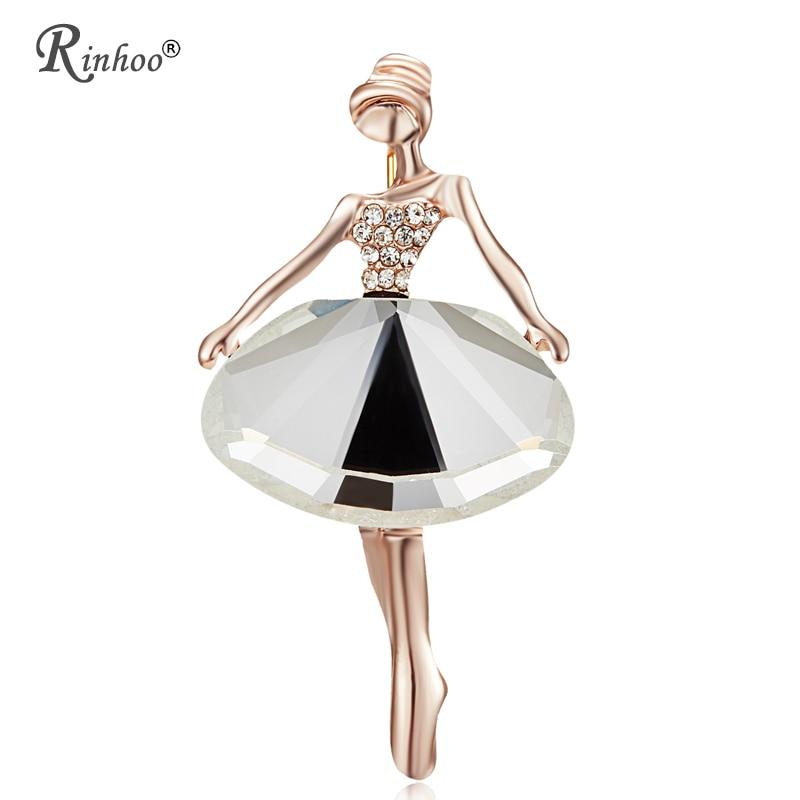 RINHOO очаровательная красивая принцесса балерина броши для Для женщин Pin Bijouterie высокое качество корсаж модные свадебные украшения