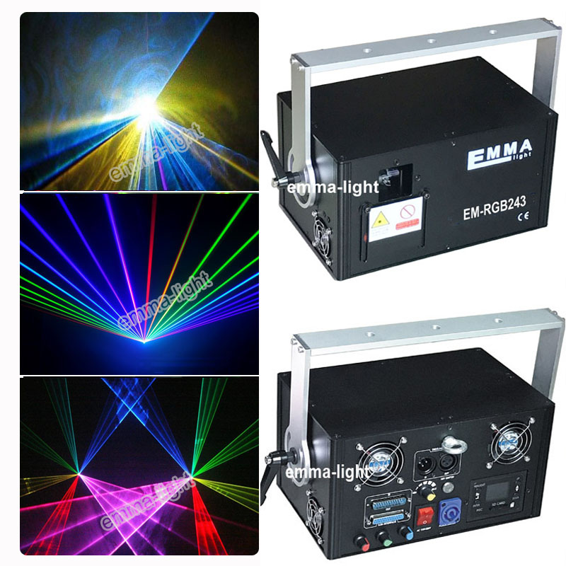 2w Rgb Laser Beam And Animation dmx party Light/show Laser/laser Projector/stage Lights/full Color Animation Laser Light